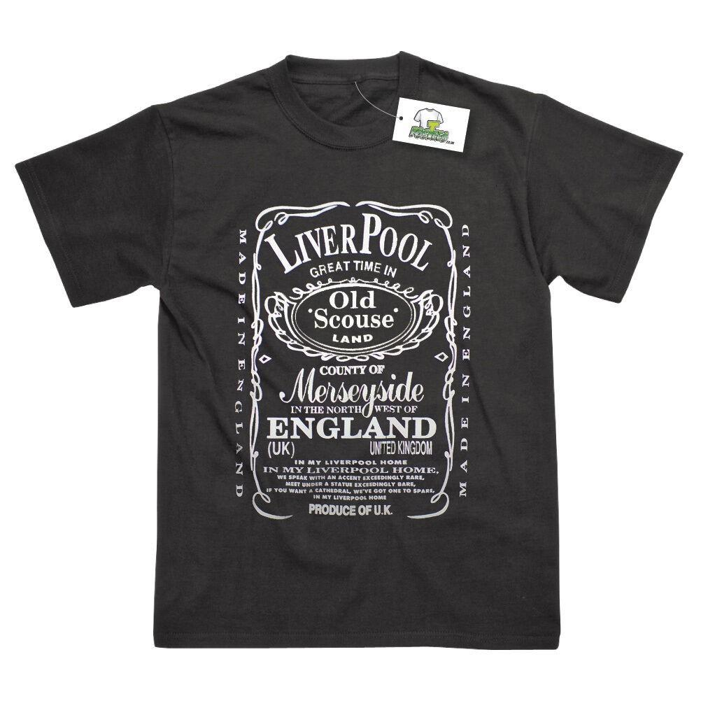 JD Whisky Inspired Liverpool Old Scouse T-Shirt - Postees