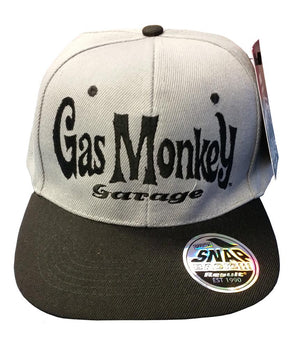 Official Gas Monkey Garage Grey Snapback Cap - Postees