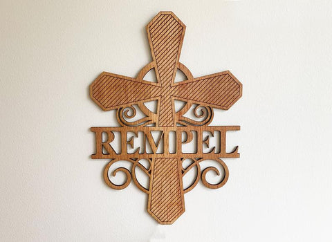 Personalized Cross Monogram