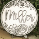 DIY Sign Kit for Personalized Round Floral Sign
