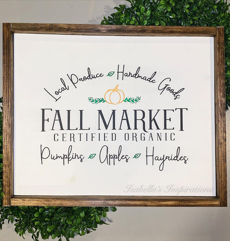 "Fall Market -- 16""x24"" Wooden Sign"