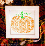 "Filligree Pumpkin -- 16""x16"" Wooden Sign"