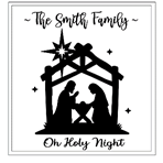 Nativity Sign - Personalized