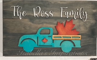 Vintage Seasonal Truck - Personalized with DIY Shapes