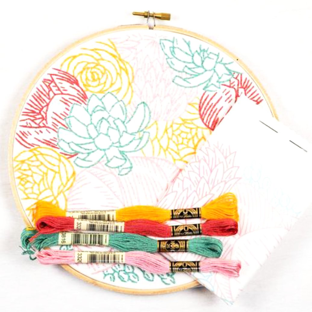 Floral Profusion Embroidery Kit
