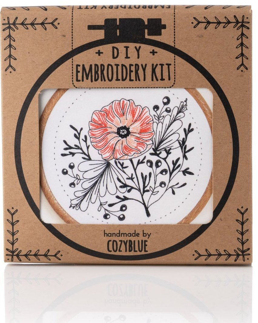 Poppy Power Embroidery Kit