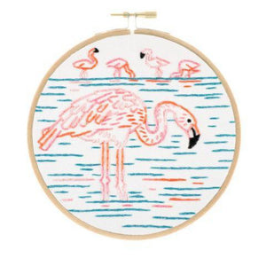 Flamboyant Flamingos Embroidery Kit