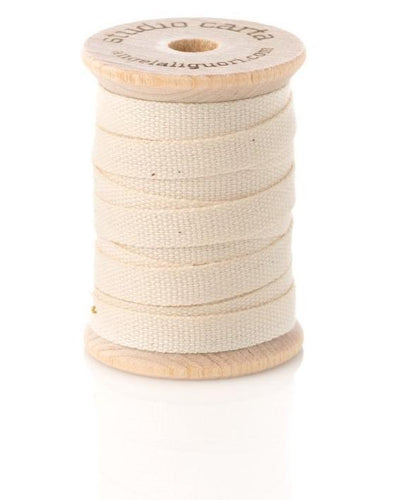 Cotton Ribbon Wooden Spool |  Natural