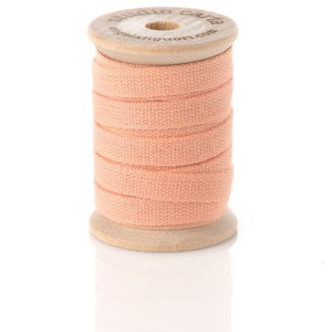 Cotton Ribbon Wooden Spool | Peach