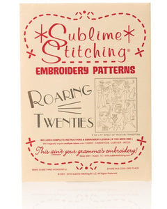 Roaring Twenties - Embroidery Patterns - Iron-On Transfer