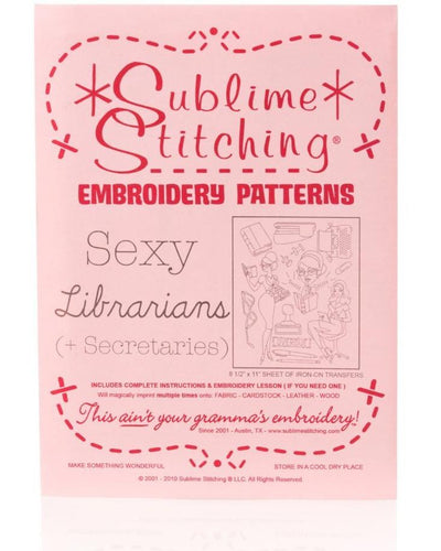 Sexy Librarians - Embroidery Patterns - Iron-On Transfer