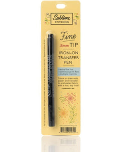 Fine Tip Iron-On Transfer Pen - Black Ink