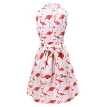 Load image into Gallery viewer, Flamingo summer dress with belt