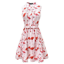 Load image into Gallery viewer, Flamingo A-line mini dress