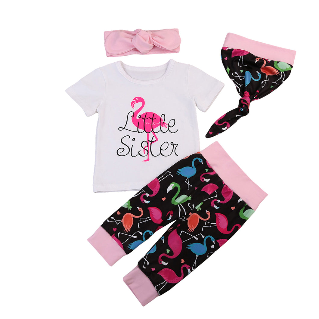 Flamingo clothing set for baby