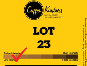 LOT 23 SINGLE SERVE COFFEE PODS CUPPA KINDNESS