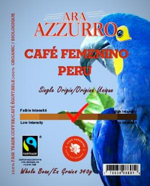 Café Femenino Coffee,  Fairtrade Certified,  Organic Certified (FTO Coffee) Medium Roast 340G