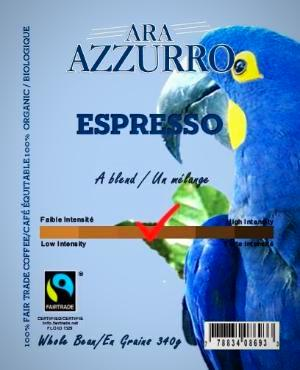 Espresso, Fairtrade Certified, Organic Certified (FTO Coffee) 340G