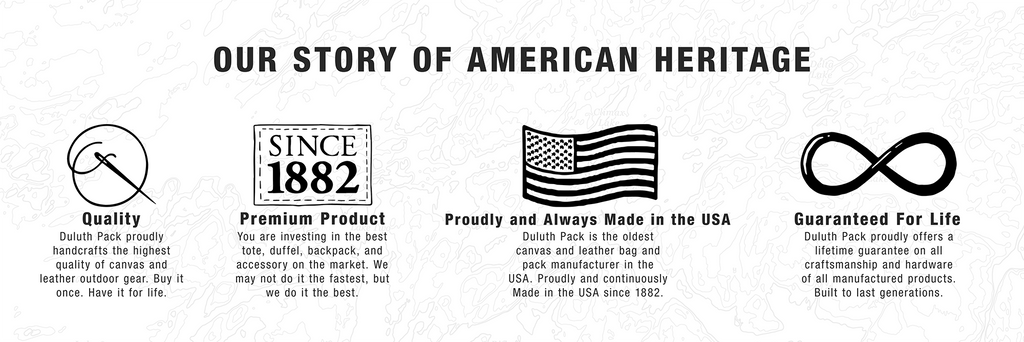 Our Story of American Heritage: Quality, Premium Product, Proudly and Always Made in the USA, Guaranteed For Life. Image Link: Our Story