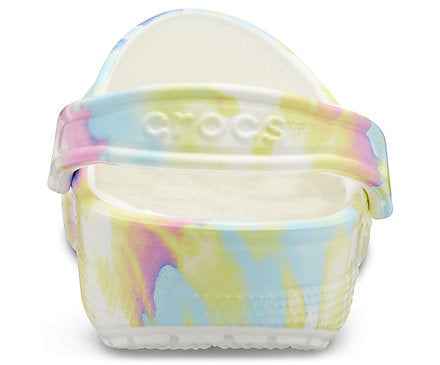 Kids' Classic White Tie-Dye Graphic Clog Crocs Shoes  - Crocs