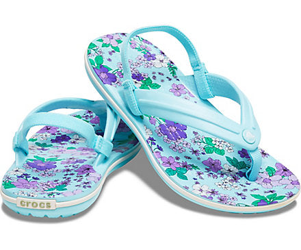 Kids' Crocband™ Floral Strap Flip Crocs Shoes  - Crocs