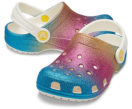 Kids' Classic Ombre Glitter Clog Crocs Shoes  - Crocs