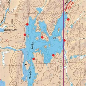 21 - Sawbill, Brule and Pipe Lakes Activity  - McKenzie Maps