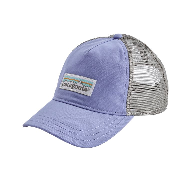 Patagonia Women's Pastel P-6 Label Layback Trucker Hat Hat Light Violet Blue - Patagonia