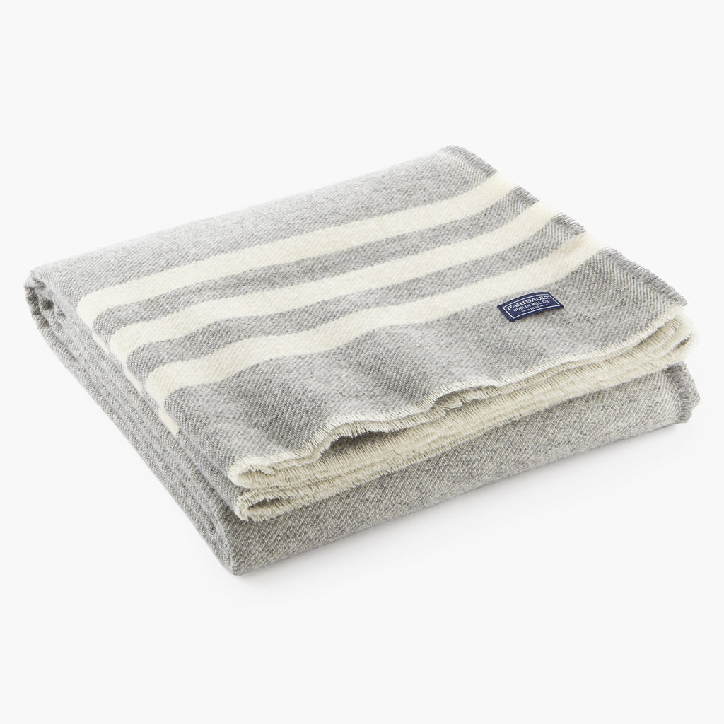 Grey and Natural Trapper Wool Throw