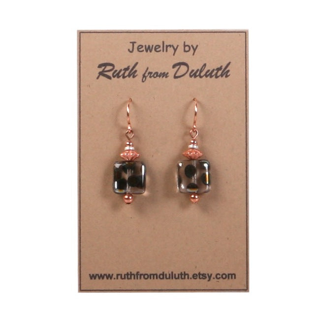 Peacock Square Earrings Apparel  - Ruth From Duluth