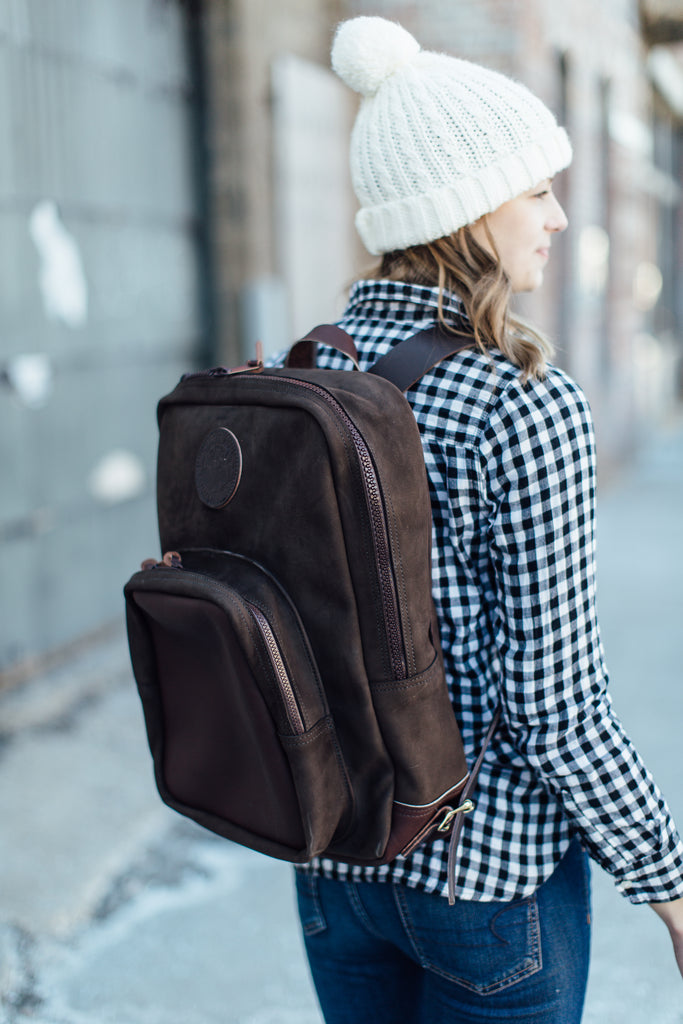 Brushed Leather Deluxe Backpack