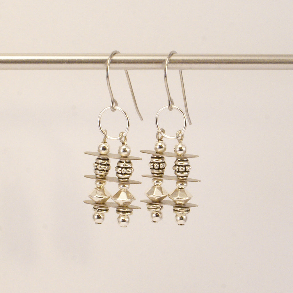 Silver Stack Earrings