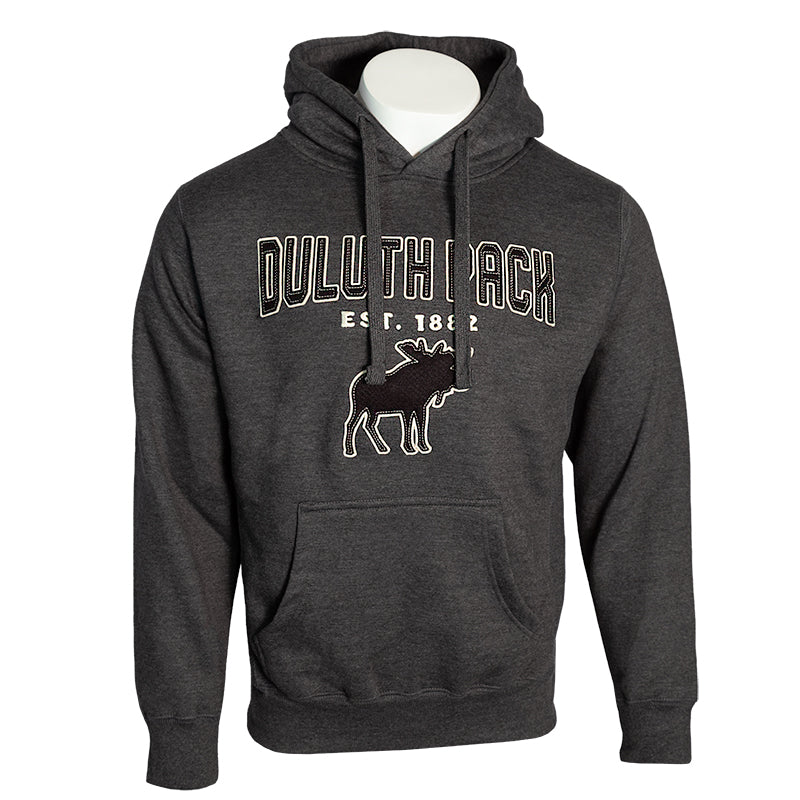 Duluth Pack Felt Moose Sweatshirt Apparel Charcoal / Small - Duluth Pack Apparel