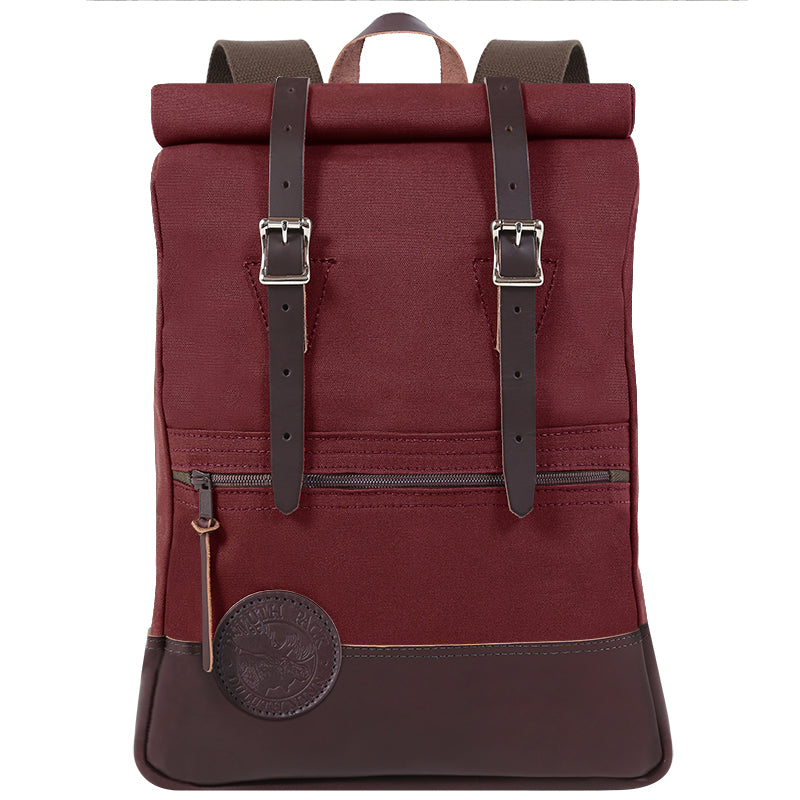 Deluxe Roll-Top Scout Day Pack Burgundy - Duluth Pack
