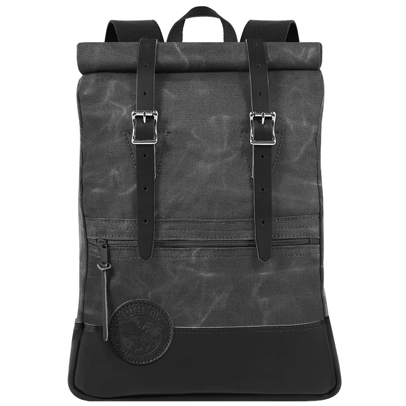 Deluxe Roll-Top Scout Day Pack Waxed Grey - Duluth Pack