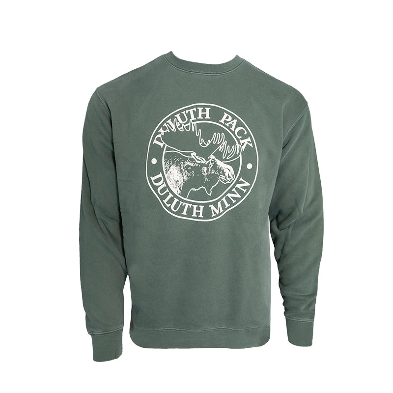 Logo Crew Neck Sweatshirt Green / Small - Duluth Pack Apparel