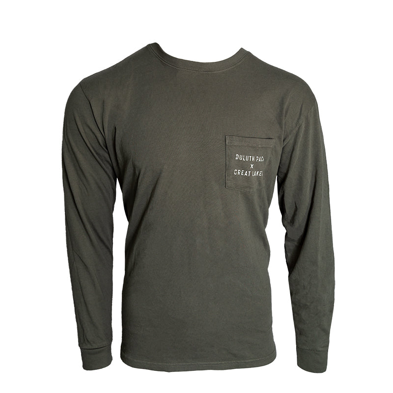 Great Lakes Long Sleeve in Green Long Sleeve Small / Olive Drab - Great Lakes