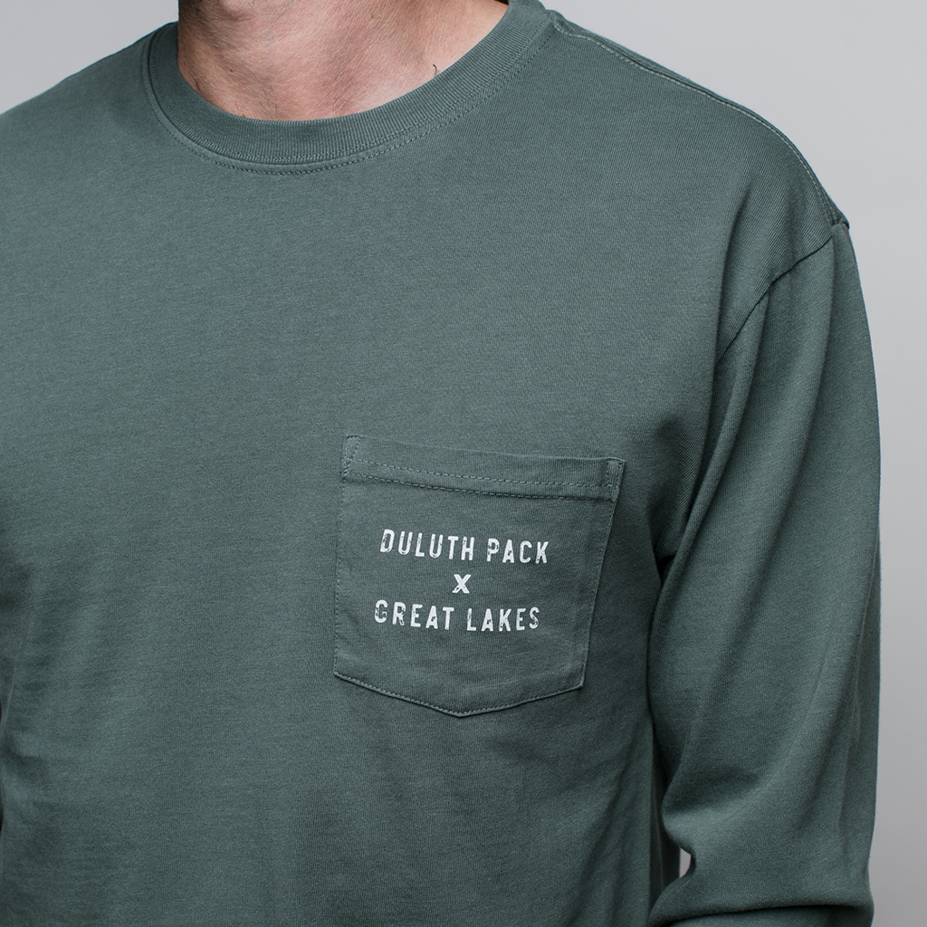 Great Lakes Long Sleeve in Green Long Sleeve  - Great Lakes