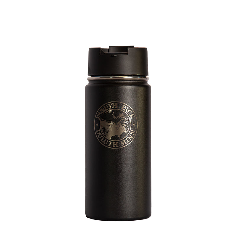 16oz Logo Water Bottle Water Bottle Black - Hydro Flask
