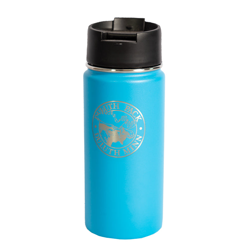 16oz Logo Water Bottle Water Bottle Blue - Hydro Flask