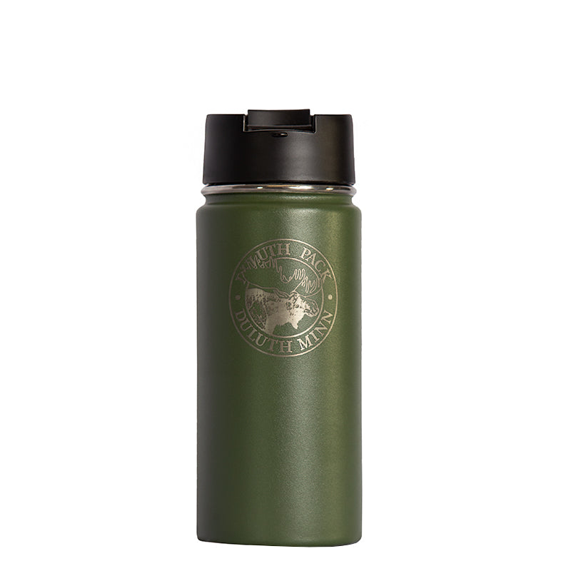 16oz Logo Water Bottle Water Bottle Olive - Hydro Flask