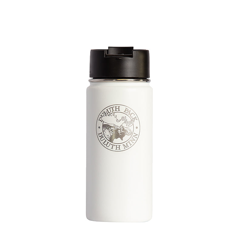 16oz Logo Water Bottle Water Bottle White - Hydro Flask