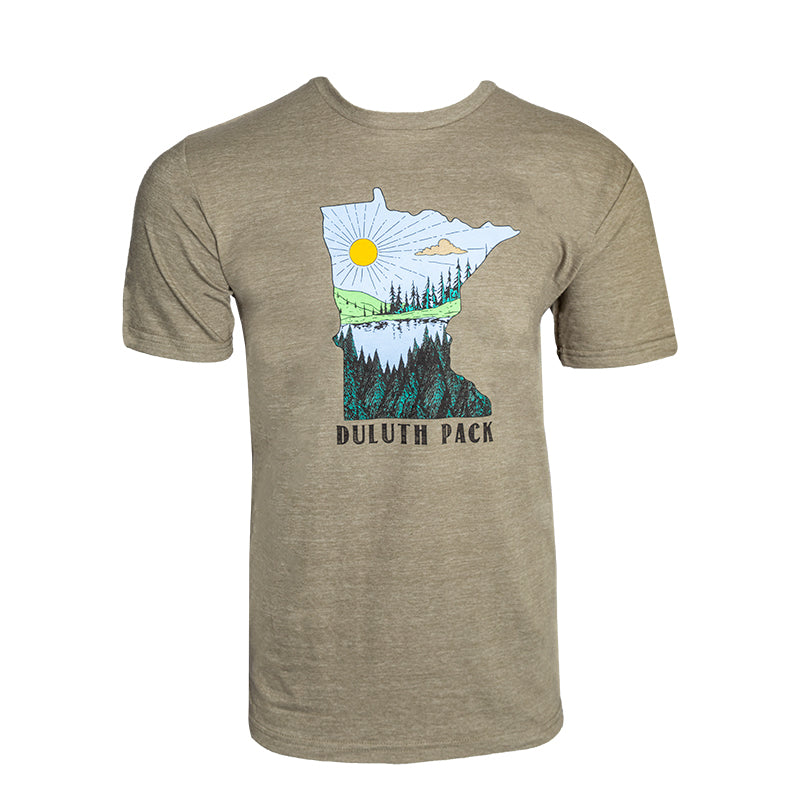 Minnesota Sun Lake T-Shirt Apparel Small / Green - Duluth Pack Apparel