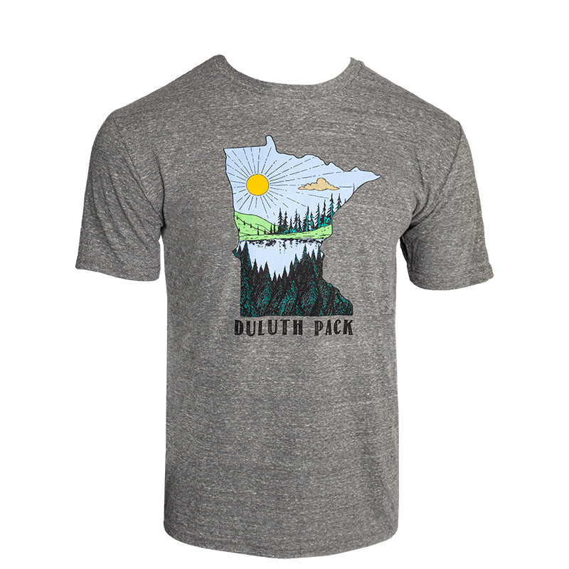 Minnesota Sun Lake T-Shirt Apparel Small / Grey - Duluth Pack Apparel