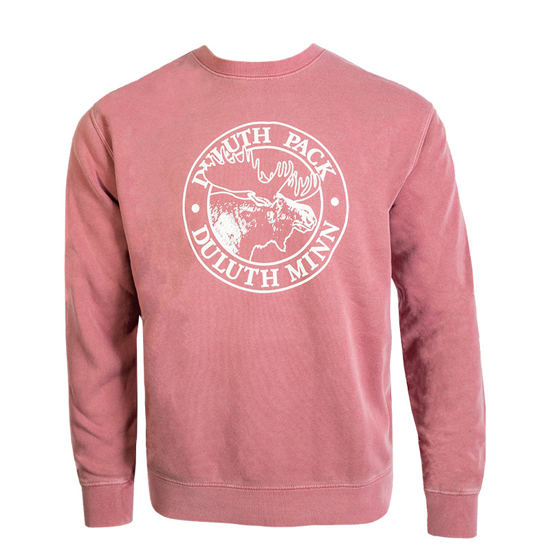 Logo Crew Neck Sweatshirt Maroon / Small - Duluth Pack Apparel
