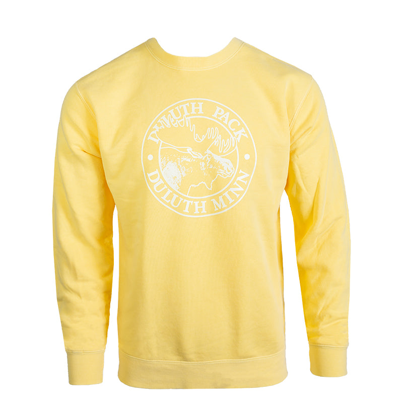 Logo Crew Neck Sweatshirt Yellow / Small - Duluth Pack Apparel