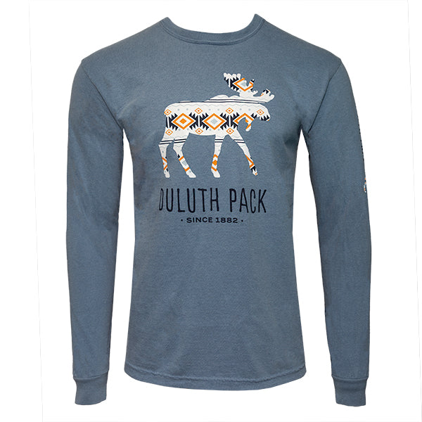 Duluth Pack Moose Graphic T-shirt Shirt Blue / Small - Duluth Pack Apparel