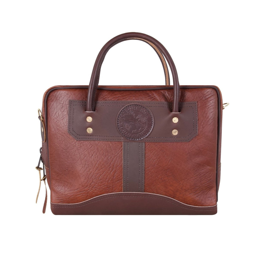 Bison Leather Briefcase Briefcase Brown / Standard (Small) - Duluth Pack