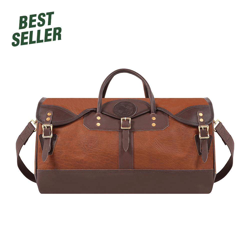 Bison Leather Sportsman's Duffel Duffel Brown - Duluth Pack