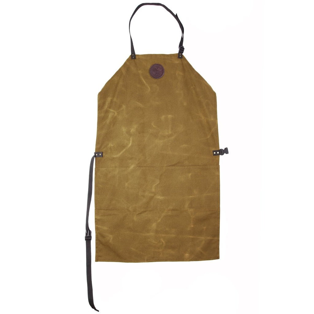 Canvas Apron Cabin Items Waxed Khaki / Long - Duluth Pack